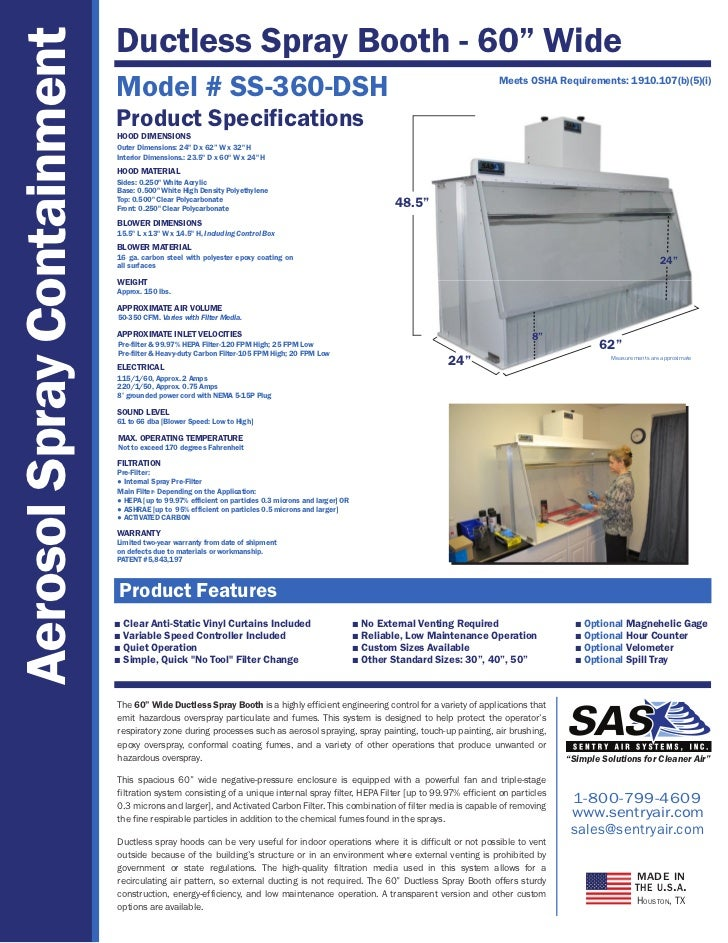 Ductless Spray Booths Sentry Air Systems Inc