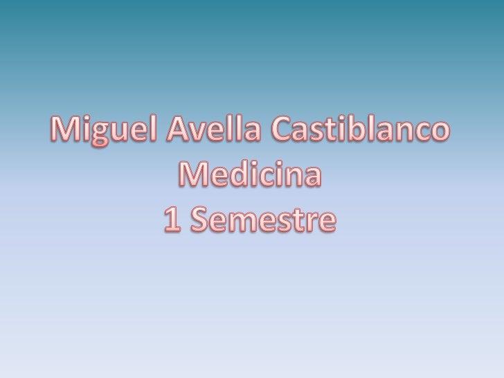 Miguel Avella Castiblanco<br />Medicina <br />1 Semestre<br />
