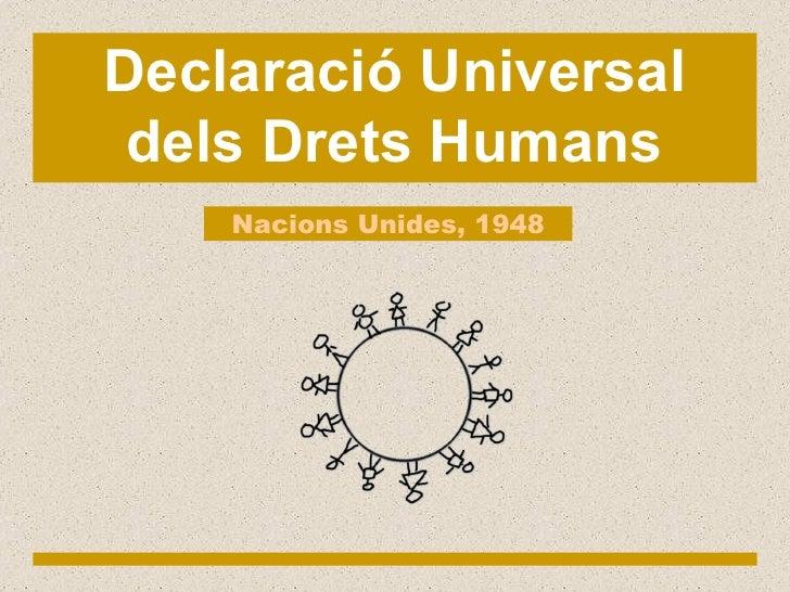 Declaració Universal dels Drets Humans Nacions Unides, 1948