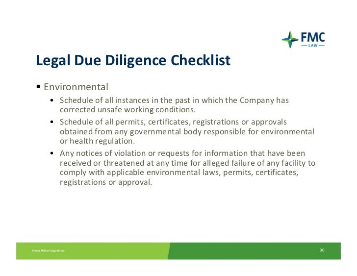 Accounting Due Diligence Checklist