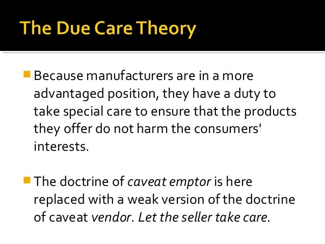 Due Care Theory