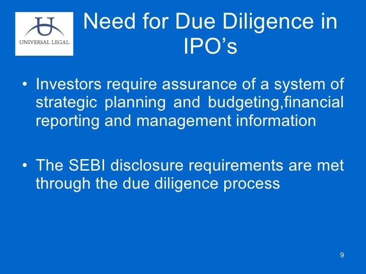 Due diligence for sme ipo