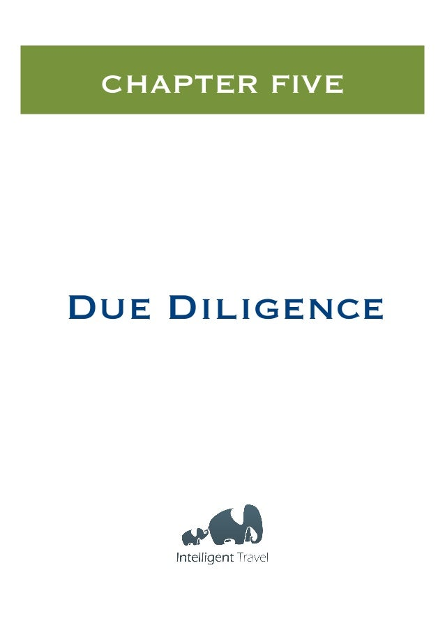CHAPTER FIVE  Due Diligence