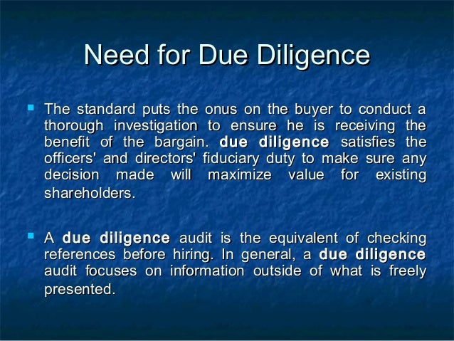 Due diligence in_merger_and_acquisition Slide 3