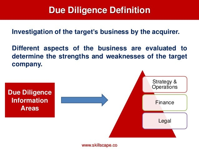 Due diligence in private equity