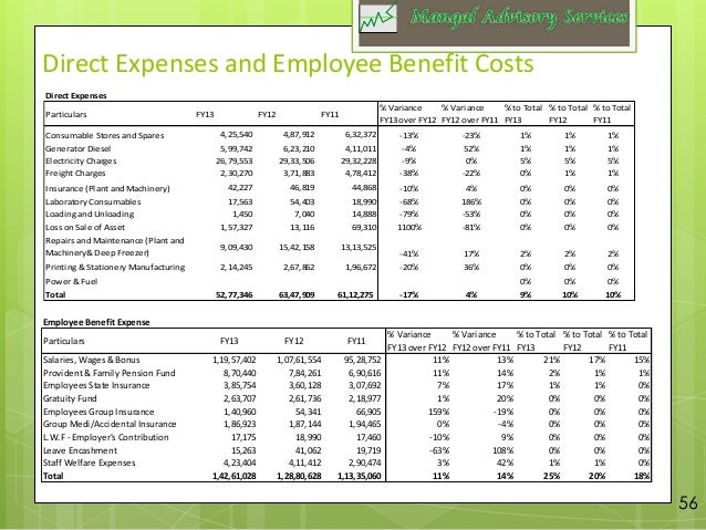 examples of expense reports