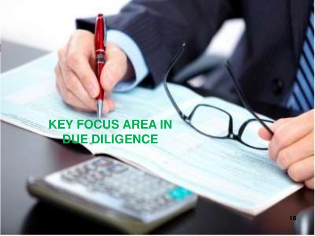 KEY FOCUS AREA IN DUE DILIGENCE 16