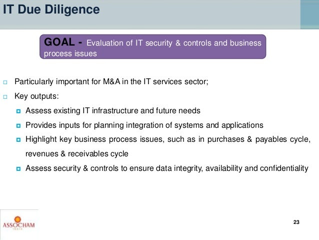  Particularly important for M&A in the IT services sector;  Key outputs:  Assess existing IT infrastructure and future ...