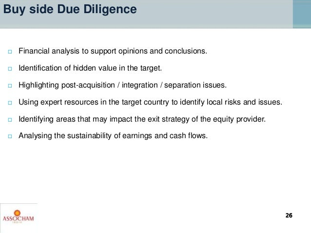  Financial analysis to support opinions and conclusions.  Identification of hidden value in the target.  Highlighting p...