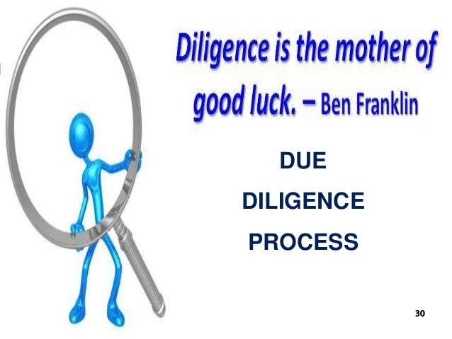 DUE DILIGENCE PROCESS 30