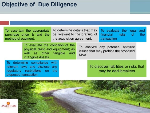Objective of Due Diligence To determine compliance with relevant laws and disclose any regulatory restrictions on the prop...