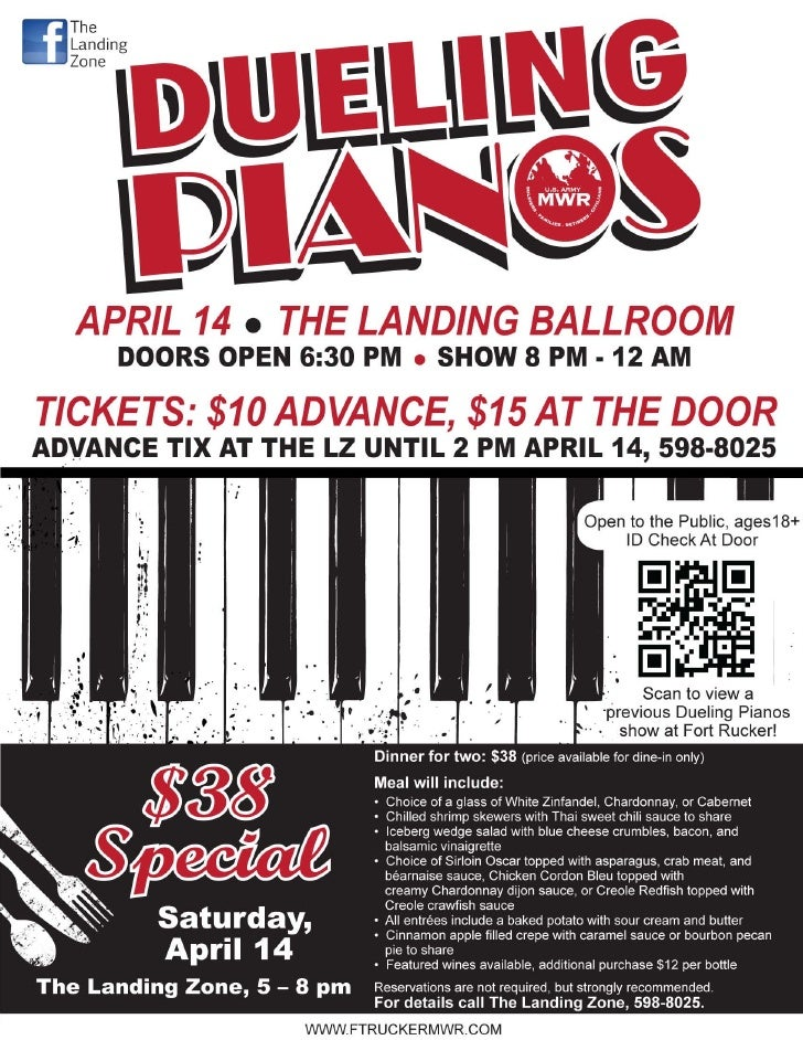 Dueling Pianos 14 April 2012