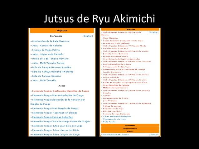 Jutsus de Ryu Akimichi