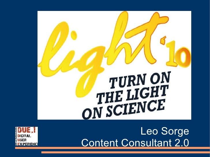 Leo Sorge Content Consultant 2.0