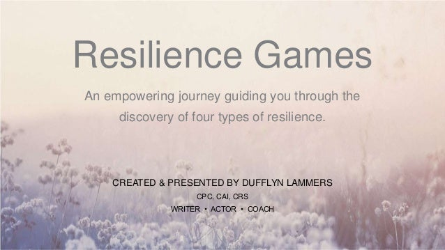 Resilience Games An empowering journey guiding you through the discovery of four types of resilience. CREATED & PRESENTED ...