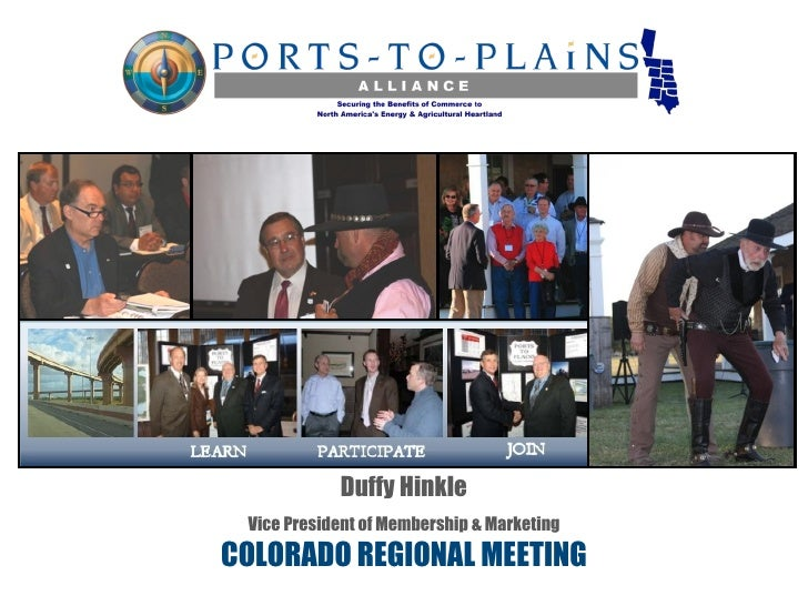Duffy Hinkle Vice President of Membership & MarketingCOLORADO REGIONAL MEETING
