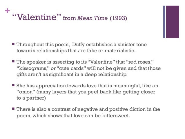 "duffy poems 8 ""valentine"""