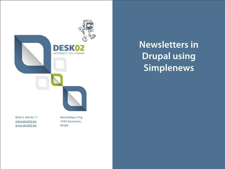 Newsletters in                                      Drupal using                                       Simplenews0032 2 30...
