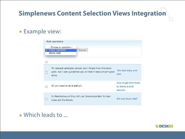 drupal how to send simplenews