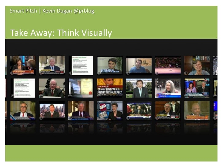 Smart Pitch | Kevin Dugan @prblog                             Take Aways     Share Your Content      Get a New View of Med...