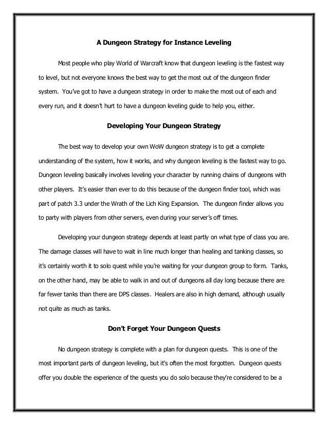 world of warcraft strategy guide pdf