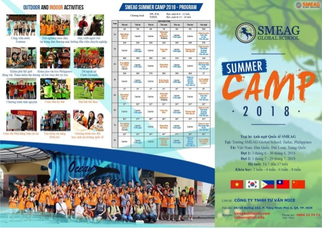 Du học MICE - Trại hè Philippines - SMEAG English Summer Camp 2018