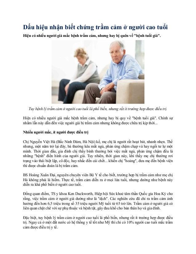 """Dấu hiệu nhận biết chứng trầm cảm ở người cao tuổi Hiện có nhiều người già mắc bệnh trầm cảm, nhưng hay bị quên về """"bệnh t..."""
