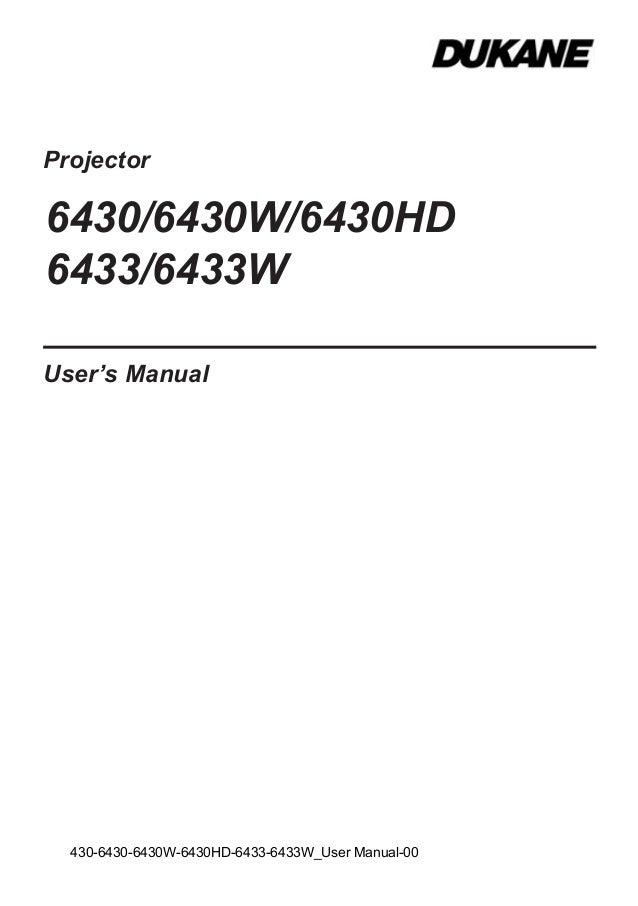Dukane 6430 hd 6433w-usermanual