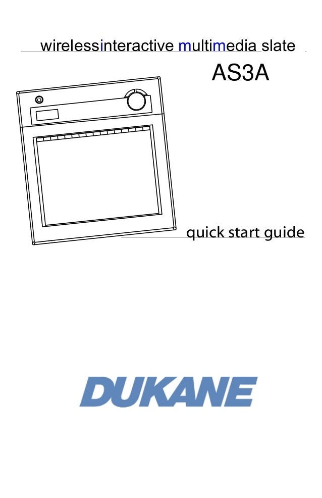 wirelessinteractive multimedia slate  AS3A  quick start guide