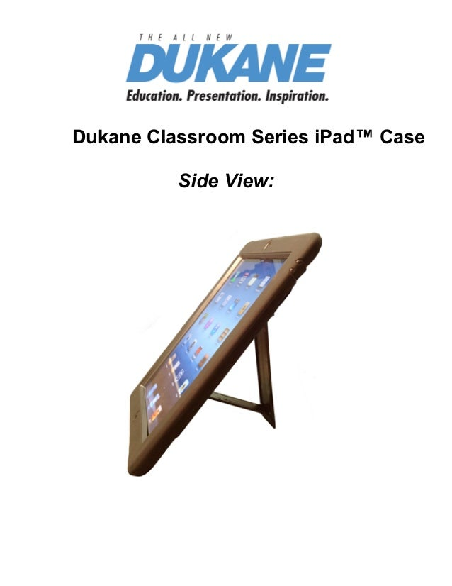 Find Projectors Dukane Classroom Series iPad™ Case Side View: