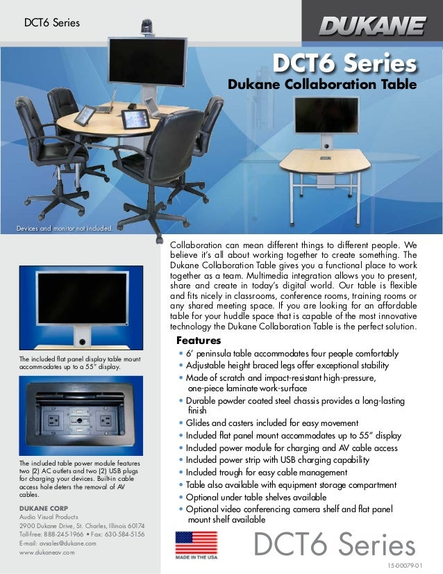 DUKANE CORP Audio Visual Products 2900 Dukane Drive, St. Charles, Illinois 60174 Toll-free: 888-245-1966 • Fax: 630-584-51...