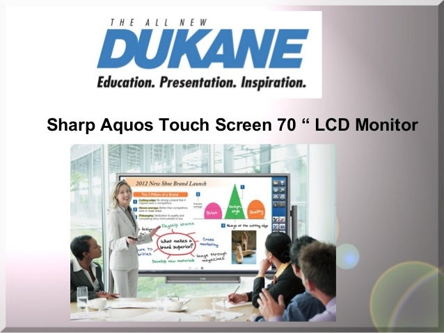 """Sharp Aquos Touch Screen 70 """" LCD Monitor"""