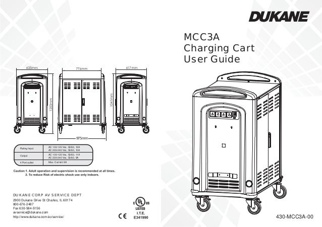 Dukane mcc3 a cart usermanual