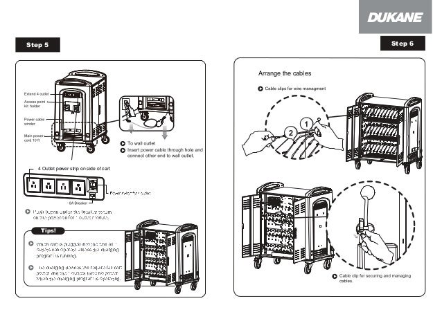 Dukane mcc3 chromebook cart user manual