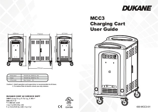 Dukane mcc3 chromebook cart user manual