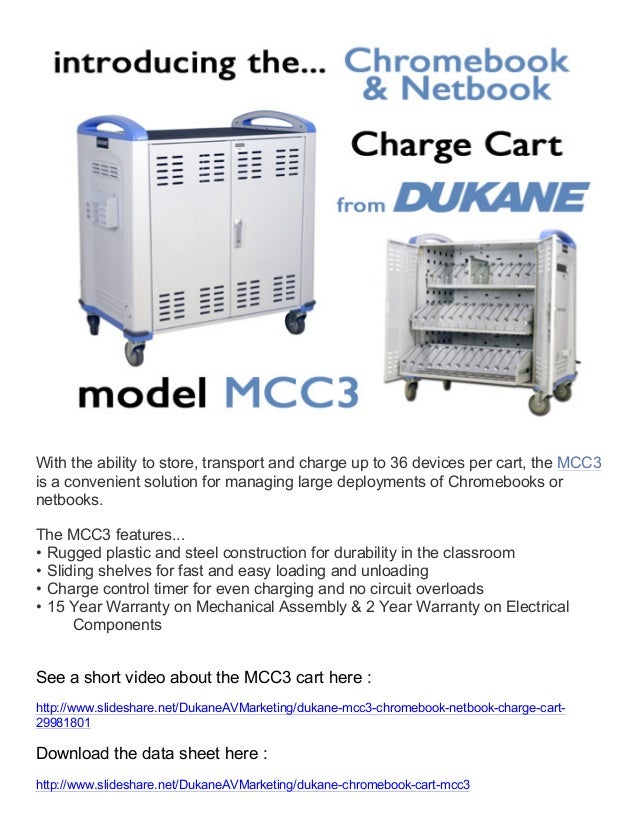 With the ability to store, transport and charge up to 36 devices per cart, the MCC3 is a convenient solution for managing ...