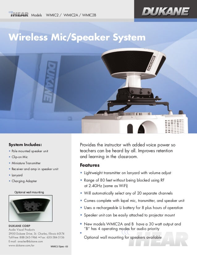 System Includes: •Pole mounted speaker unit •Clip-on Mic •Miniature Transmitter •Receiver and amp in speaker unit •La...