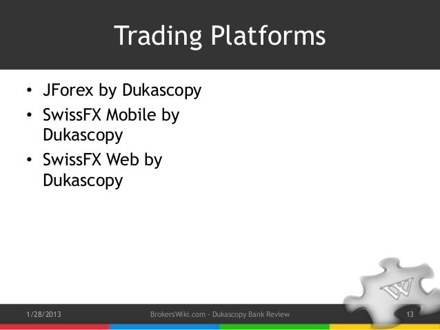 Dukascopy trading system