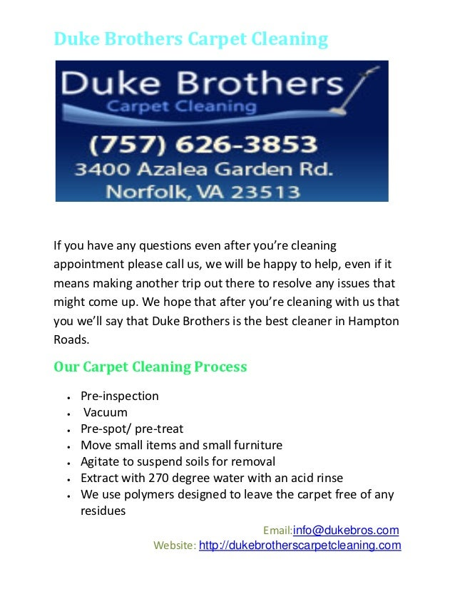 Duke Brothers Carpet Cleaning