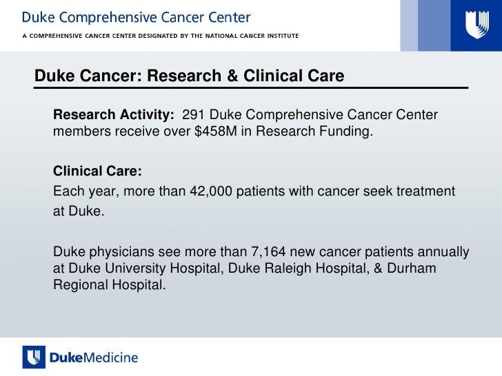 Duke university cancer care