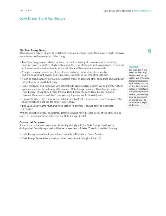 Duke Energy Brand Standards Manual