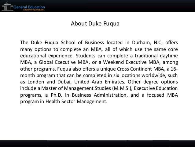 fuqua essays Following up on our announcement of duke / fuqua's application essays for the  2017-2018 admissions season, we wanted to offer our essay.