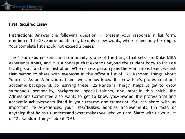 Duke law essay