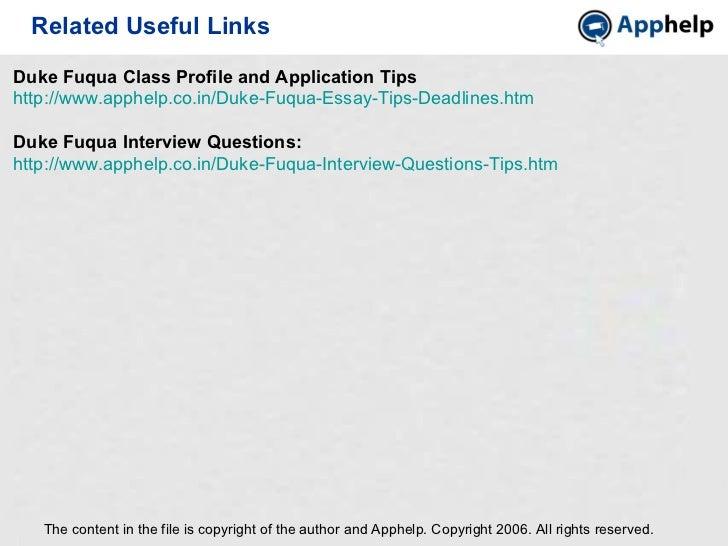 Duke fuqua admissions essays