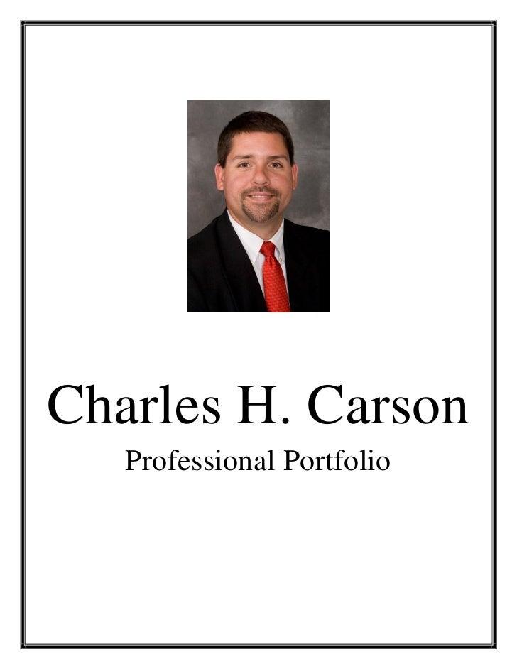 Charles H. Carson    Professional Portfolio