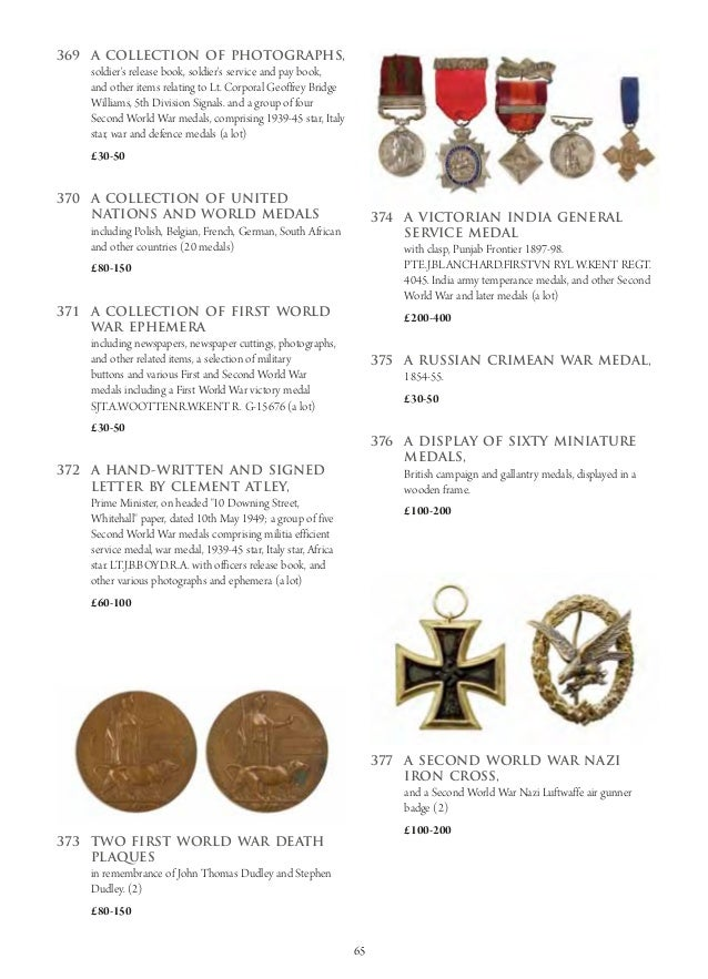 Dukes Auctioneers Coins, Militaria and Collectables Auction