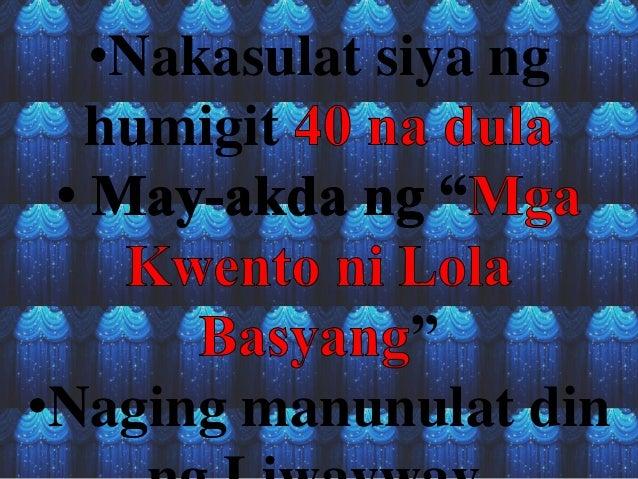 dulang filipino Dula mula sa wikipediang tagalog, ang malayang ensiklopedya jump to  ang  tagpo sa dula ay ang paglabas-masok sa tanghalan ng mga tauhan ang mga.