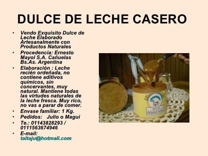 Dulce de leche for Ceramica artesanal como se hace