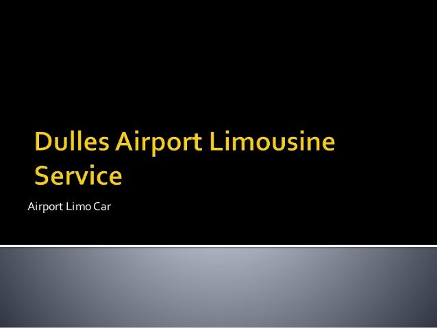 Airport Limo Car