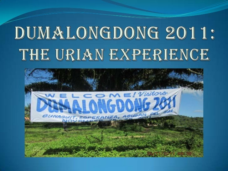 The journey to the site of Dumalongdong 2011is a joint venture of Father Saturnino UriosUniversity and AUDRN-Miriam Colleg...